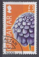 +Gibraltar 2004. Flowers 3Pds. Cancelled - Gibraltar