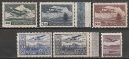Tchécoslovaquie Poste Aérienne N° 12, 14, 15, 16, 17, 18 * - Luftpost