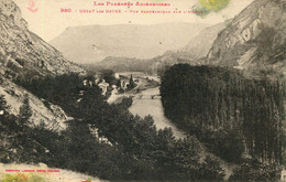 CPA - USSAT-LES-BAINS -  VUE PANORAMIQUE SUR L'ARIEGE - Andere Gemeenten