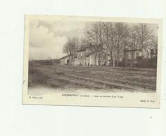 40 - ROQUEFORT - Gare Et Arrivée D'un Train Bon état - Roquefort