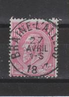 COB 46 Centraal Gestempeld Oblitération Centrale BRAINE-L'ALLEUD - 1884-1891 Leopold II