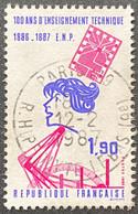FRA2444U - 100 Ans D'enseignement Technique - 1f90 Used Stamp 1986 -  France YT 2444 - Oblitérés