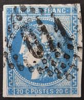 YT 46B (cote 25 €) Margé, Variété Grande Tache Blanche épi, Obl GC 611 Brest - 1870 Uitgave Van Bordeaux