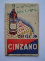 CARNET DE BISTROT Ancien : APERITIF TOG QUINQUINA - Advertising