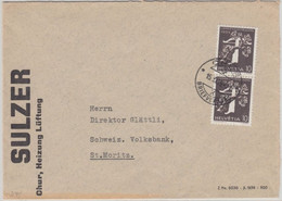 Schweiz - 2x10 Rp. Landesausstellung Brief Chur - St. Moritz 1939 - Unclassified