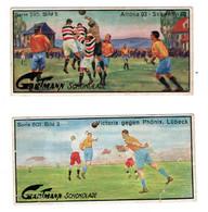 2 Chromos Stollwerck, Gartmann, Allemagne, Deutschland, Football, Fussball, Ll Choix - Sonstige