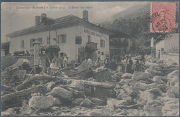 Catastrophe De Bozel , 16 Juillet 1904 , L' Hotel Des Alpes , Animée - Bozel