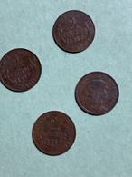 France : 4 Pièces De  2 Centimes, 1914 (noircies) - B. 2 Centesimi