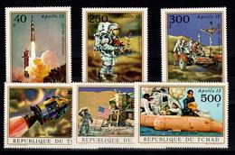 Tchad - YV PA 99 à 104 N** Complete Apollo 15 - Ciad (1960-...)