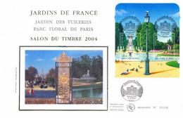 Enveloppe 1er Jour, Jardins De France, 2004 - (BF 70) - 2000-2009