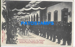 150099 ROYALTY KING INAUGURATION OF THE VALICO DEL SEMPIONE RE & PRESIDENTE SWITZERLAND OF ITALY POSTAL POSTCARD - Royal Families