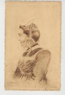 BRETAGNE - Femme De SAINT THOIS (Finistère) -  Dessin De E. HAMONIC - Bretagne