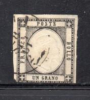 ASI138 - NAPOLI PROVINCE NAPOLETANE 1861 , Un Grano N. 19 Usato. DIFETTOSO - Napoli