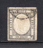 ASI139 - NAPOLI PROVINCE NAPOLETANE 1861 , Un Grano N. 19 Usato. DIFETTOSO - Napoli
