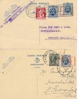 2 Briefkaarten 104 I - FN – Maeseyck VI 1935 & Antwerpen 9 1 1936 - AK [1934-51]