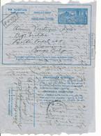 Aerogram 2 NF. 4Fr Naar Kamina, Belgisch Congo – Gent 28 5 1951 Aankomst 4 VI 1951 – Stempel, In De Bus Gevonden. - Luftpost
