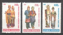Indonesia 1987 Mi 1225-1227 MNH FOLKLORE - Indonésie
