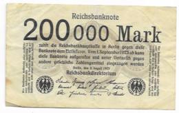 Billet De 200000 Mark  De 1923 - Andere