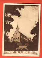 ZDC-39 Eglise Catholique De La Sarraz.  Grand Format, Circulé 1945, Avec Message De Prudence Sur Les Routes - VD Vaud