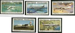 Polynésie Polynesia 1979 Short Sandringham Flying Boat, Douglas DC-4, DC-8, Britten-Norman Islander, Fokker Friendship - Aerei