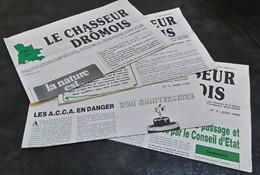 NUMEROS 2 A 5 DU CHASSEUR DROMOIS - JOURNAL D'INFORMATION DE LA FDC 26 - 1989/1990 - Hunting & Fishing