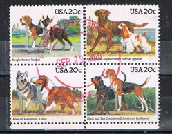 UNITED STATES DE033 - 1984 Dogs Set Used - Usati