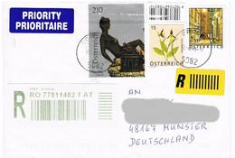 Österreich / Austria - Einschreiben Brief  Nach Deutschland - Marke Kunst, Skulptur - 2011-... Cartas