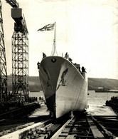 NEW FRIGATE LAUNCHED TARTAR DEVONPORT TRIBAL CLASS LADY TYRWHITT ANTI SUBMARINE 25*20cm SHIP BOAT BATEAU BOOT - Barche