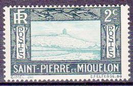 St Pierre Et Miquelon 1932-33 Falaise Et Phare 2c YT 137 Neuf* - Nuevos
