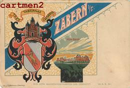 ZABERN SAVERNE BELLE CPA DE 1898 ILLUSTREE EN ALLEMAND BLASON ELSASS LOTHRINGEN WAPPENPOSTKARTEN GESCHÜTZ ALSACE - Saverne