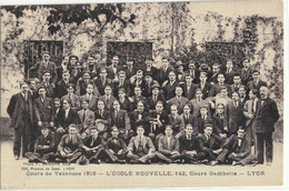 CPA   LYON   Ecole Nouvelle 142,cours Gambetta ,Cours De Vacances 1916 - Non Classificati