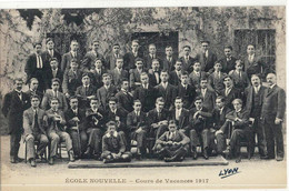 CPA   LYON   Ecole Nouvelle 142,cours Gambetta ,Cours De Vacances 1917 - Non Classificati