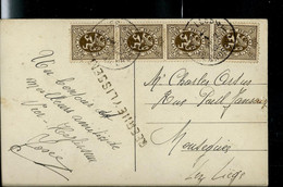 Carte Fantaisie Obl. BXL 1931  + Griffe De ?EERHEYLISSEM - Sello Lineal