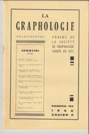 Revue LA GRAPHOLOGIE N° 102 - Cahier 2 1966 - Ciencia