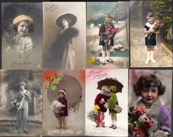 Lot 25 Cartes Bonne Année (animée Enfant Femme Homme Couple... à Découvrir, Petit Prix) - Año Nuevo