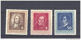Allemagne  -  RDA  -  1952  :  Yv  60-62  Mi  308-10  ** - Unused Stamps