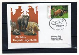 BRD, 2007, Ganzsache/Brief (echt Gelaufen) Mit Michel 2542, Erstverwendungsstempel, 100 J. Tierpark Hagenbeck - Briefomslagen - Gebruikt