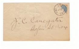 DWI Dänisch Westindien Diagonal Half On Cover St Thomas Lettre Antilles Danoises Avec Demi Timbre Cachet 1903 - Dänemark (Antillen)