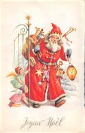 Carte Postale Fantaisie De NOËL - PERE  NOËL Avec Sa Hotte Jouets Enfants - Santa Claus
