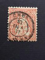 Schweiz / Suisse / Switzerland - HELVETIA Zum 33, Yt 38 1862 - Usati