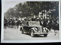 Photo Originale Séries WW2 WWII : LIBERATION De PARIS _ DE GAULLE & CHURCHILL En VOITURE - War, Military