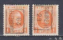 4533 Voorafstempeling Op Nr 190 - SOMBREFFE 29 - Positie A & B - Roller Precancels 1920-29