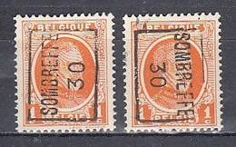5330 Voorafstempeling Op Nr 190 - SOMBREFFE 30 - Positie A & B - Roller Precancels 1930-..