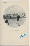 Sicilia-marsala Il Porto Piccolo Porto Sbarcadero Veduta Porto Anni 20 Cards Circolare Tipo Oblo (f.piccolo) - Marsala
