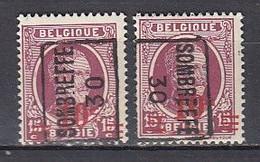 5558 Voorafstempeling Op Nr 246 - SOMBREFFE 30 - Positie A & B - Roller Precancels 1930-..