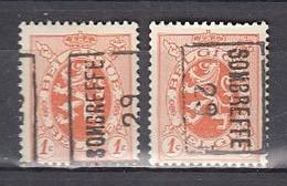 4978 Voorafstempeling Op Nr 276 - SOMBREFFE 29 - Positie A & B - Roller Precancels 1920-29