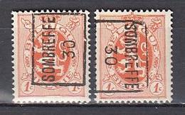 5657 Voorafstempeling Op Nr 276 - SOMBREFFE 30 - Positie A & B - Roller Precancels 1930-..
