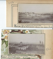 Namur  Fête Militaire Pour Les Sinistrés De La Martinique 22 Juin 1902  2 Photos Sur Carton - Namur