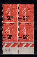 YV 220 N** Semeuse Bloc De 4 Cote 10+ Euros - Unused Stamps