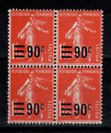 YV 227 N** Semeuse En Bloc De 4 , Cote 17,20 Euros - Unused Stamps